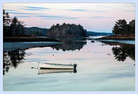 Tide Chart Kennebec River Bath Maine Sasanoa River An Evening Photo At Near Low Tide And A Bit