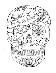 Free Printable Day Dead Coloring Pages Printable Coloring Page For