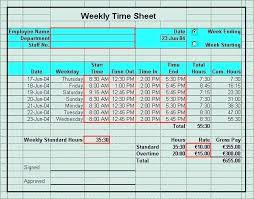 Excel Template With Lunch Break Templates Time Sheet Timesheet