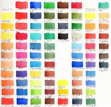 Watercolour Swatches A Few Brands Wetcanvas
