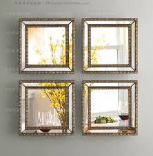 mirrored wall decor fretwork square wall mirror framed wall art set of four square wall decorative