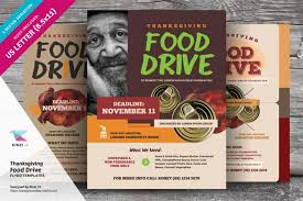 Food Drive Flyers Templates Thanksgiving Food Drive Flyer Templates