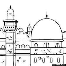 A vast congregational mosque, accommodating over 5,000 worshippers, rose up. Al Aqsa Mosque Al Masjid Al Aqsa Coloring Page Coloring Pictures For Kids Islamic Kids Activities Muslim Kids Activities