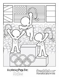 Free Personalized Olympic Coloring Sheet Kid Ideas Kids