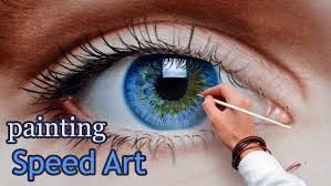 sd painting an eye in oil dry brush realistic how to draw