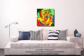 tableau aviateur coloré moderne carré peinture artistique nouveauté ...