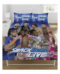 wwe wrestling raw v smackdown double duvet cover set