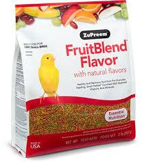 Cockatiel Diet Chart Fruitblend Flavor With Natural Flavors Zupreem