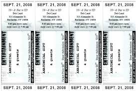 Admission Ticket Template Free Download Admission Ticket Template Word