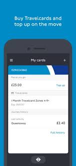 tfl oyster and contactless on the app