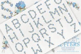 Blue Letters Cosmos 02 Blue Letters Flower Clipart