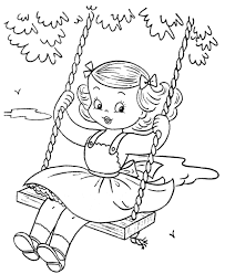 Small Picture Coloring Page Of Girl Excellent American Girl Coloring Pages With