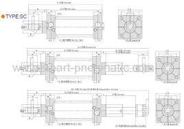 Pneumatic Cylinder Size Chart S C Series Pneumatic Cylinder 32x125 Manufacturers And