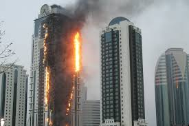 fire at grozny s tallest building disclosure news online
