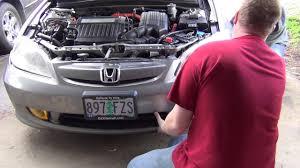 How To Install Fog Lights On Honda Civic 2005 2005 Honda Civic Hid And Fog Light Install Part 2
