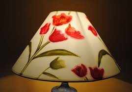 handpainted lampshades bringing light to your home