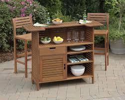 patio bar wood. Renaissance Outdoor Patio Bar Set Wood K