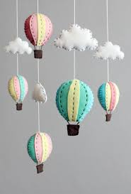 diy baby mobile kit make your own hot air balloon cot crib mobile pink