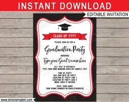 Red Black Invitation Etsy