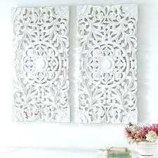 whitewashed wall decor white wood art interesting west elm decorating carved lovely gall