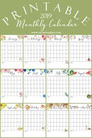 At A Glance Monthly Planner 2019 Free Printable Calendar 2019 Monthly Calendar On Sutton Place