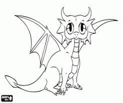 Cartoon Baby Dragon Coloring Pages Printable 3 A At Baby Dragon