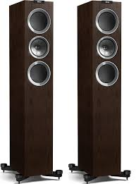 kef tower speakers. kef r500 floor standing speakers - walnut veneer tower