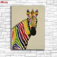 large wall art colorful zebra canvas painting for living room home decoration oil painting on canvas