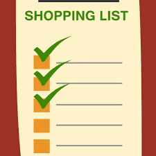Shopping List Clipart | World Of Example For Grocery List Clipart ...