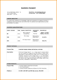 Latest Resume Format Download For Freshers Fresh Bca Formats