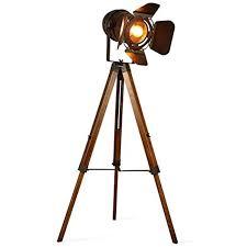 Vintage Retro Theatre Spot Light Tripod Floor Lamp Decoluce Vintage Tripod Floor Desk Lamp Nautical Teatre