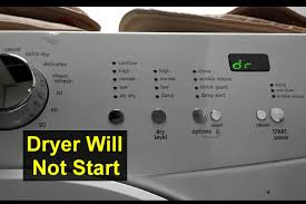 dryer will not start dr displayed e66 error frigidaire affinity home repair series you