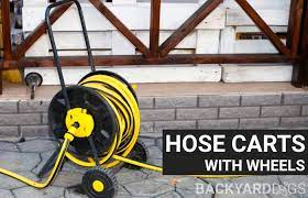 best hose reel cart with wheels to