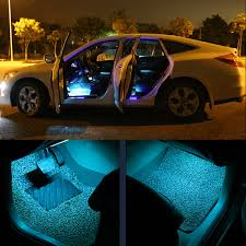 exterior led lighting car. led lights strip remote control rgb car interior floor decorative atmosphere light exterior led lighting