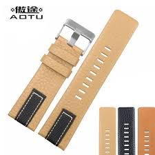 aotu genuine leather watchbands for sel 26mm 28mm men watch straps clock band leather watch bracelet