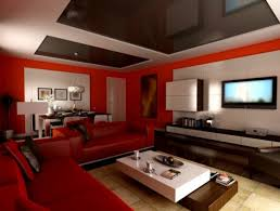 Red Sofa Living Room Decor Dazzling Living Room Paint Ideas With Red Wall Color Furnished