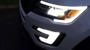 2016 Ford Explorer Led Fog Lights Ford Explorer Led Headlights Youtube