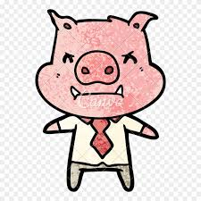 boss drawing pig pig kicking cartoon clipart
