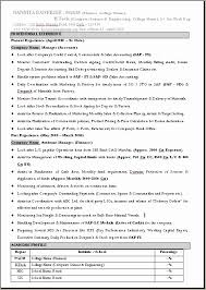 Resume Format Mba 1 Year Experience Resume Template Sample