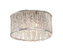 household lighting fixtures. 11.5-inch 3-Light Polished Chrome And Crystal Drum Shape Flushmount Household Lighting Fixtures