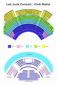 Nokia Theatre Seating Chart View 2019