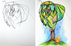 artist turns childrens drawings into paintings 2
