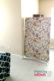 diy room divider on a budget separates office space from bedroom