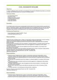 Civil Engineer Resume Great Sample Resume