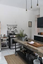 Industrial Kitchen Semi Industrial Kitchen With Timber Wood Cabinetry Also Rough Wood