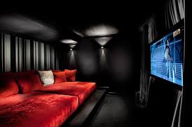 Small Picture Home cinema decor home theater traditional with wall lighting