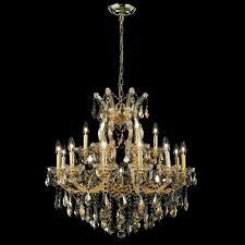 elegant 2800d30g gt rc maria theresa 19 light golden teak crystal vintage chandelier loading zoom