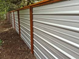 sheet metal privacy fence. A Galvanized Corrugated Metal Fence Creates Clean Modern Edge Sheet Privacy M