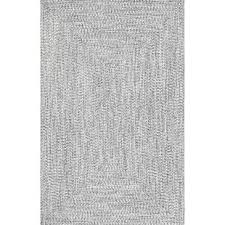 gray and white rug. Kulpmont Gray Indoor/Outdoor Area Rug And White