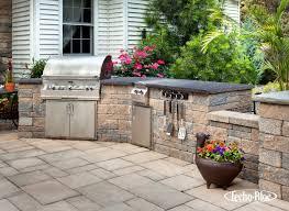 Outdoor Kitchen Patio Techo Bloc Outdoor Kitchen Patio Wall Pillar